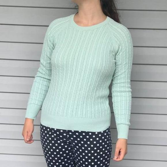 Sonoma Size S Mint Blue Sweater